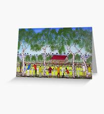 """""""Day at the Cricket""""    SOLD Original Acrylic Painting EJCairns  Greeting Card"""