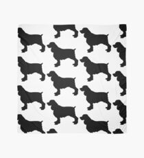 english springer spaniel dog silhouette freehand drawing scarf