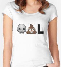 SKULLPOOPL Women's Fitted Scoop T-Shirt