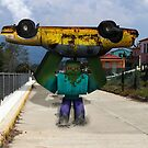 Minecraft: Mutant Zombie mit Taxi von kijkopdeklok