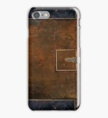Old Worn Leather Book Cover Design iPhone Case/Skin