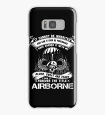 airborne infantry mom airborne jump wings airborne badge airborne brot Samsung Galaxy Case/Skin