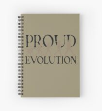 Proud Evolution Man Spiral Notebook