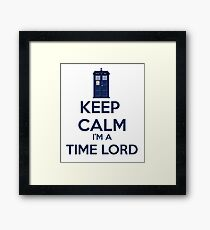 Keep Calm I'm A Time Lord Framed Print