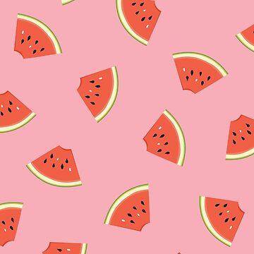 Slice of Life Watermelon by LizWallflower