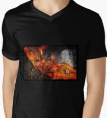 Going Batty In America Mens V-Neck T-Shirt