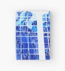 Cuaderno de tapa dura Blue Ice Stained Glass