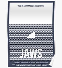 Jaws film poster Poster