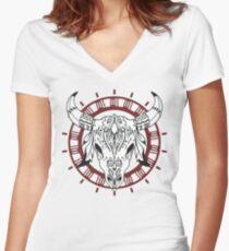 Ethnic Women's Fitted V-Neck T-Shirt