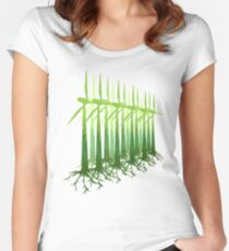 Green Power Women's Fitted Scoop T-Shirt