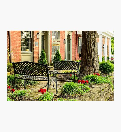 Augusta KY Benches Photographic Print