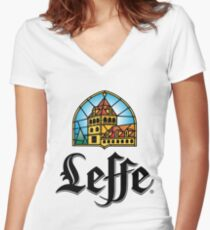 Leffe - Beer Women's Fitted V-Neck T-Shirt