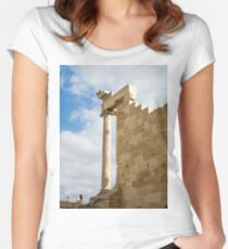 The Parthenon, Acropolis, Athens, Greece, UNESCO word heritage site Women's Fitted Scoop T-Shirt