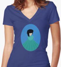 Simplistic Princess #3 Women's Fitted V-Neck T-Shirt