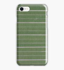 green, striped chalkboard  iPhone Case/Skin