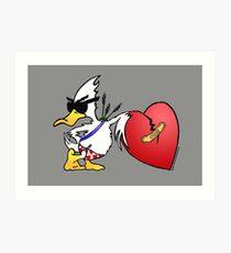 Valentine's Day Duck Art Print