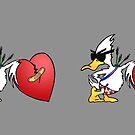 Valentine's Day Duck MUG - Duck Logic Comedy by Dave-id