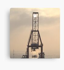 Container Crane Canvas Print