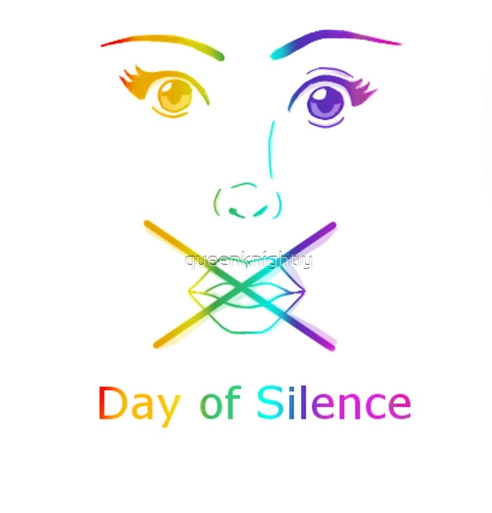 Rainbow Day of Silence by queenknightly