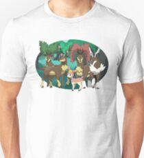 Sawsbuck forest- Oval Unisex T-Shirt