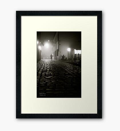 Running at dawn .Cracow Kazimir. Galicia. Andrzej Goszcz, Framed Print