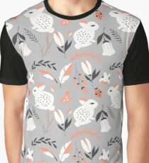 Rabbits and flowers 007 Graphic T-Shirt