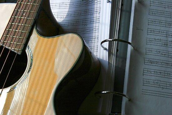 Bass Guitar With Tabs by Elizabeth  Lilja
