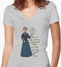 Marie Curie Women's Fitted V-Neck T-Shirt