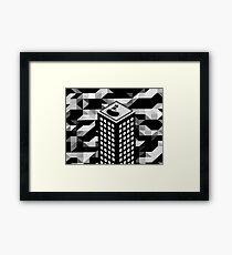 Isometric Skyscraper Framed Print