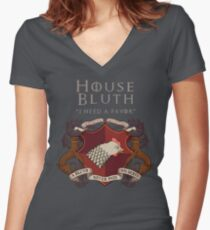 House Bluth, I Need a Favor Women's Fitted V-Neck T-Shirt