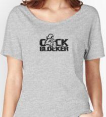 Gay cock block t shirt Women's Relaxed Fit T-Shirt