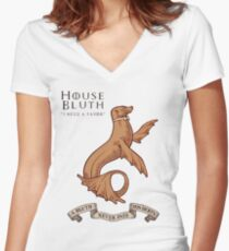 Bluth Family Seal Women's Fitted V-Neck T-Shirt