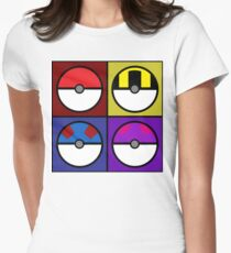 Pokeball minimalist Women's Fitted T-Shirt