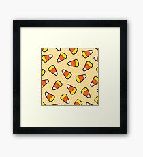 Candy Corn Pattern Framed Print