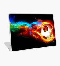 soccer fire Laptop Skin