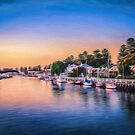Port Fairy Sunset  (GO) by Raymond Warren