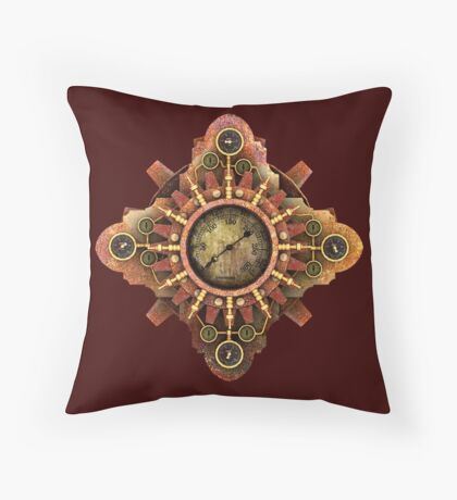 Infernal Steampunk Vintage Machine part No.1A Throw Pillow