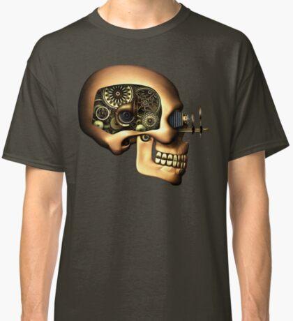 Vintage Steampunk Automaton Skull #1B Classic T-Shirt