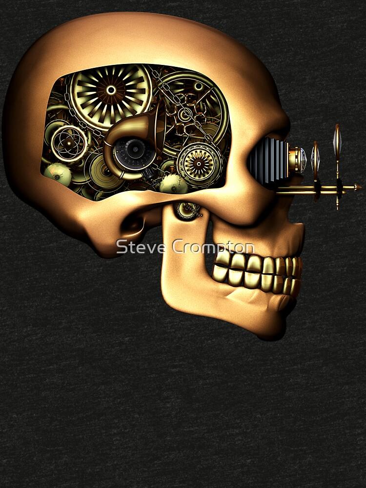 Vintage Steampunk Automaton Skull #1B by SC001