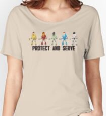 PROTECT AND SERVE Women's Relaxed Fit T-Shirt