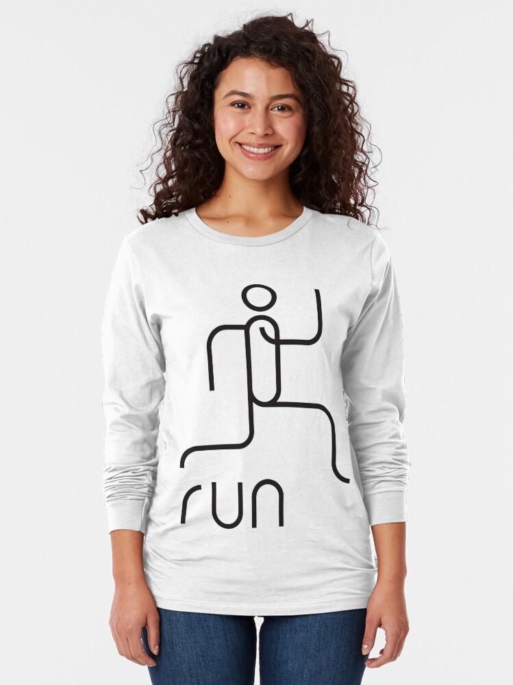 Alternate view of run Long Sleeve T-Shirt