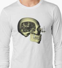 Vintage Steampunk Automaton Skull #1 Long Sleeve T-Shirt