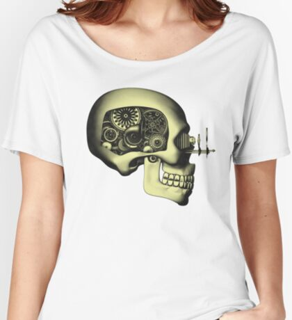 Vintage Steampunk Automaton Skull #1 Women's Relaxed Fit T-Shirt