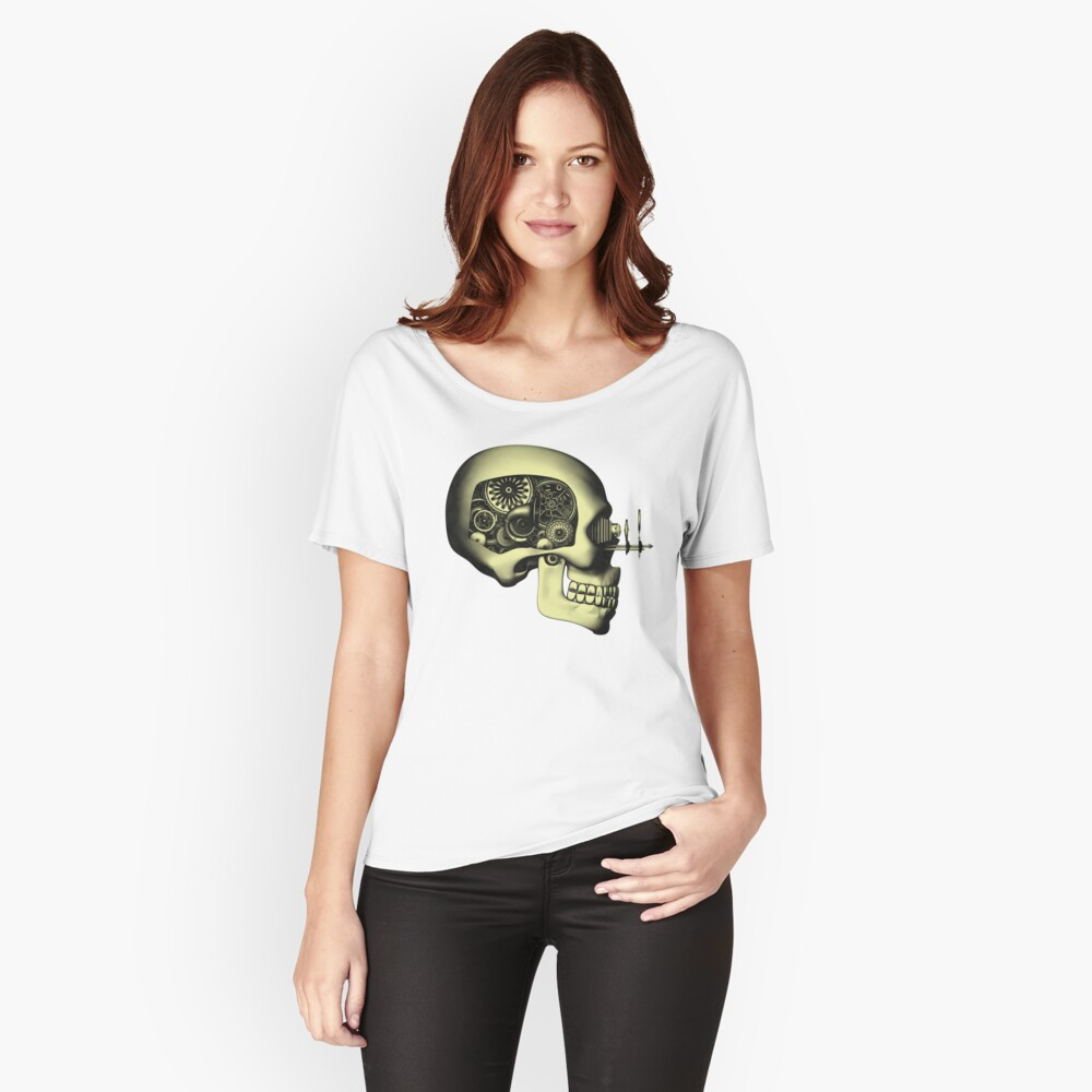 Vintage Steampunk Automaton Skull #1 Relaxed Fit T-Shirt