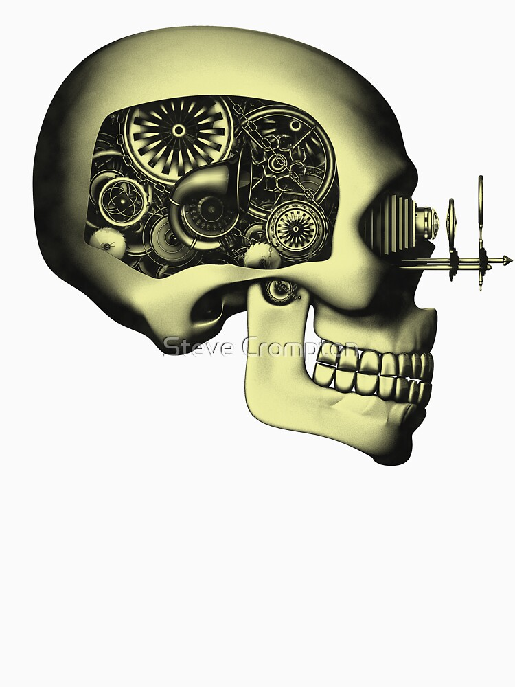 Vintage Steampunk Automaton Skull #1 by SC001