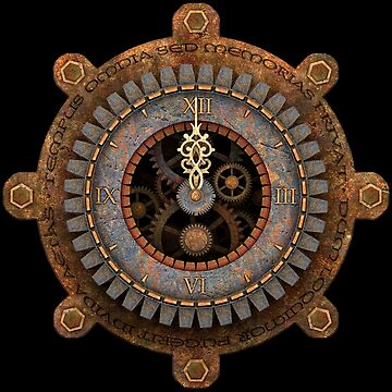 Infernal Steampunk Vintage Clock Face by SC001