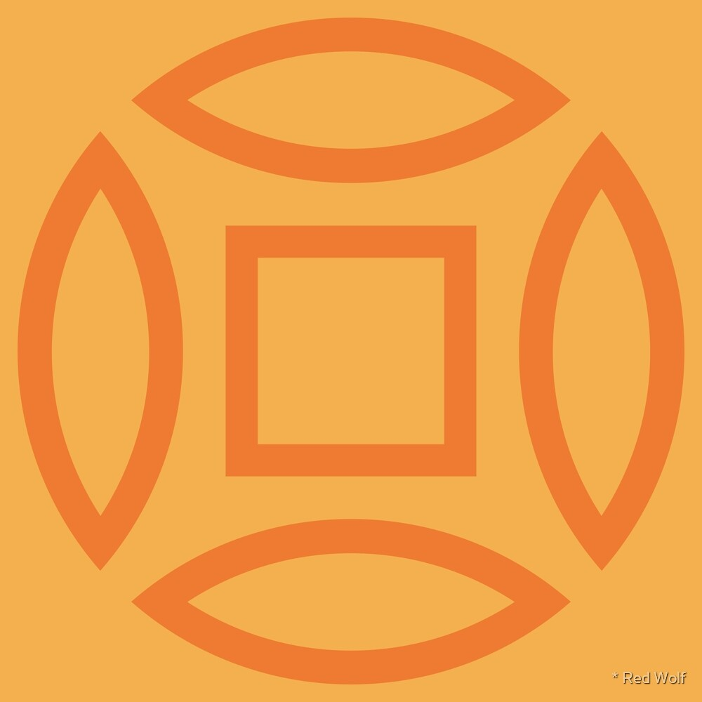 Geometric Pattern: Intersect Outline: Citrus by * Red Wolf