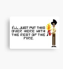 The I.T Crowd Fire Extinguisher Canvas Print