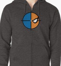 Deathstroke emblem, round Zipped Hoodie