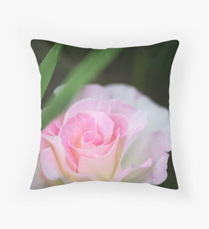 Seduced by a Rose Throw Pillow